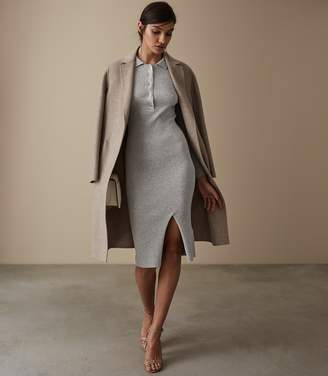 Reiss Louise Button Collar Knitted Dress