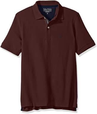 Nautica Men's Standard Classic Short Sleeve Solid Polo Shirt