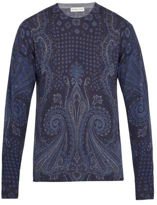 Etro Paisley Pattern Wool Blend Sweater - Mens - Multi