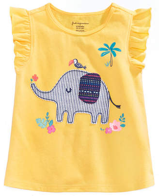 First Impressions Graphic-Print Cotton T-Shirt, Baby Girls, Created for Macy's