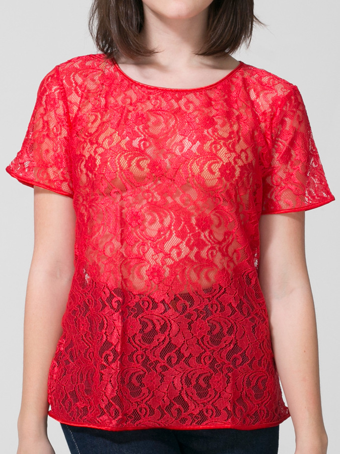 American Apparel Leaf Flower Lace Tee