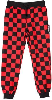 Jeremy Scott Check Cotton Fleece Pants