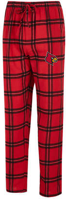 Concepts Sport Men's Louisville Cardinals Homestretch Flannel Pajama Pants