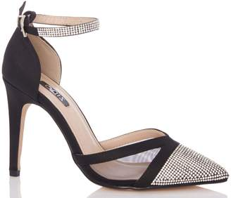 Next Womens Quiz Diamanté Court Shoes