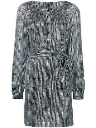 Vanessa Seward polka dot print tie waist dress