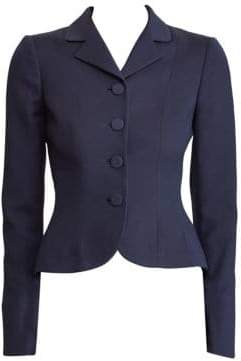 Ralph Lauren Curved Single-Breasted Jacket