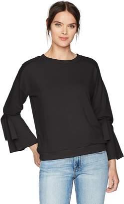 Vero Moda Women's Sleeve Knot Sweater, Black