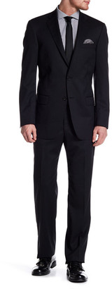 Hart Schaffner Marx Navy Pinstripe Two Button Notch Collar Wool Suit $795 thestylecure.com
