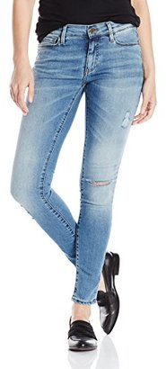 Buffalo David Bitton Women's Faith Midrise Skinny Wash Distressed Jeans $28.99 thestylecure.com