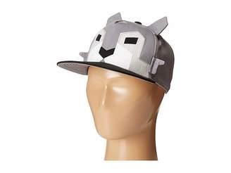 San Diego Hat Company Kids Flat Bill Adjustable Cap Hat with Geometric Shaped Animal and Ears (Little Kids/Big Kids)