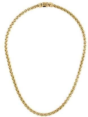 David Yurman 18K Wheat Chain Necklace