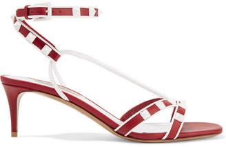 Valentino Garavani The Rockstud Leather Sandals - Red