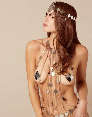 Agent Provocateur Adora Headpiece Silver And Rose Gold