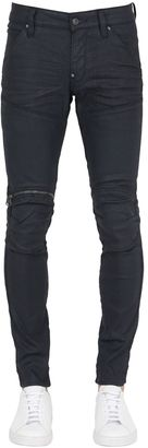 16cm 5620 3d Zip Super Slim Waxed Jeans $200 thestylecure.com