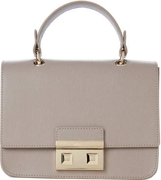 Furla Sabbia Bella Mini Top Handle Saffiano Crossbody