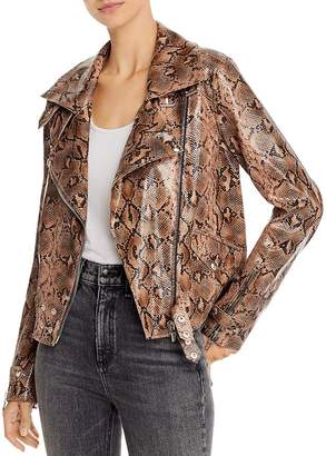 Blank NYC BLANKNYC Snake Print Faux Leather Moto Jacket - 100% Exclusive
