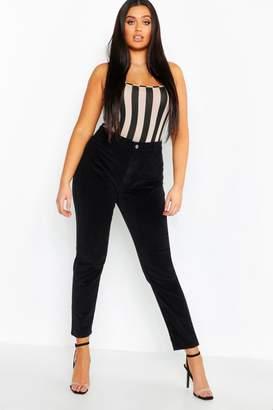 boohoo Plus Stretch Baby Cord Skinny Jeans