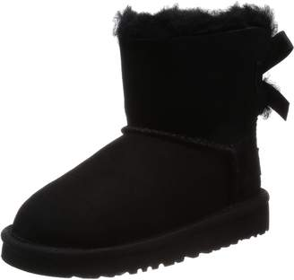 UGG Y Mini Bailey Bow Youth Girls US Size 5 Brown Suede Snow Boots