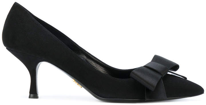 Prada bow pointed pumps