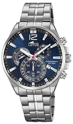 Lotus Men's Watch 10136/3 - Chronograph - Quartz - Date - Navy Dial - Stainless Steel