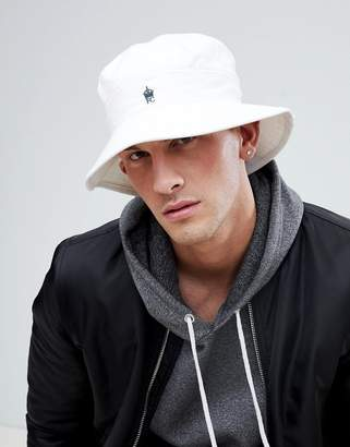 French Connection Bucket Hat In White