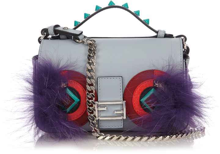 FENDI Double Micro Baguette Bag Bugs cross-body bag