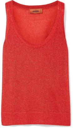 Missoni Metallic Knitted Tank - Red
