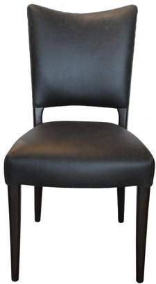 at Interiors line French Country Collections Des Dining Chair Aged Black Leather