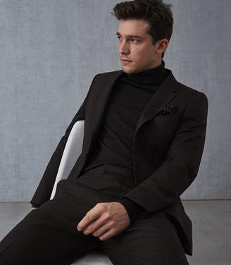 Reiss Our last order date for Christmas has now passed CARUSO WOOL SLIM FIT BLAZER Brown