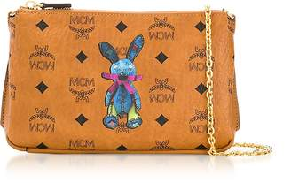 MCM Rabbit Visetos Medium Millie Top Zip Crossbody