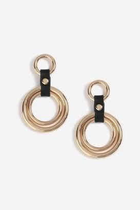Topshop PU Link Drop Earrings