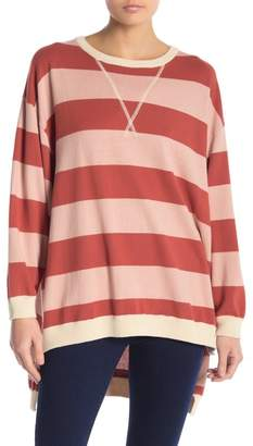 Free People Surfin' on Your Stripes Cotton Crewneck Top