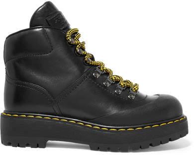 Prada - Leather Ankle Boots - Black