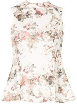 Dorothy Perkins Womens *Izabel London White Floral Print Top