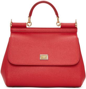 Dolce & Gabbana Red Medium Sicily Bag $1,695 thestylecure.com