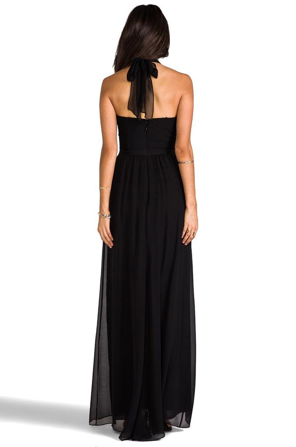 BCBGMAXAZRIA Starr Halter Dress