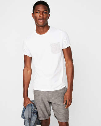 Express Floral Pocket Crew Neck Tee