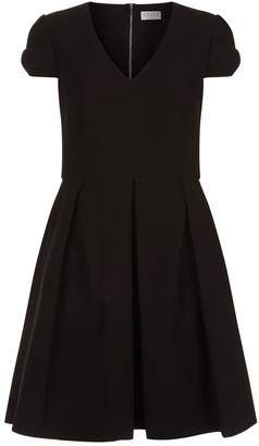 Claudie Pierlot Fit-and-Flare Bow Sleeve Dress