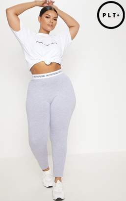PrettyLittleThing Plus Grey Marl Leggings
