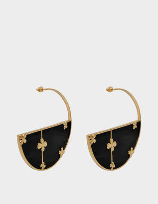 Aurelie Bidermann Bianca Onyx hoop earrings