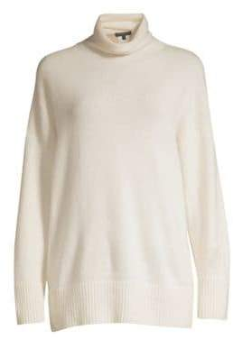 Lafayette 148 New York Cashmere Relaxed Turtleneck