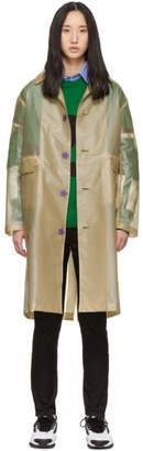 Undercover Beige Translucent Logo Trench Coat