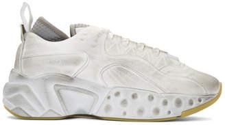 Acne Studios White Tumbled Rockaway Sneakers