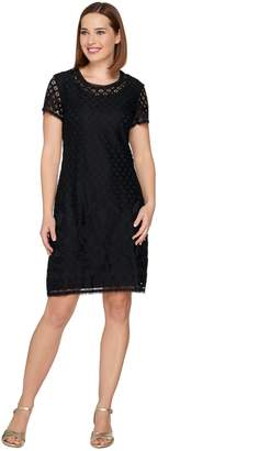 Isaac Mizrahi Live! Stretch Lace Short Sleeve Dress