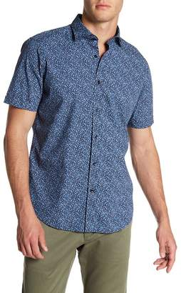 Toscano Short Sleeve Abstract Mini Splatter Shirt