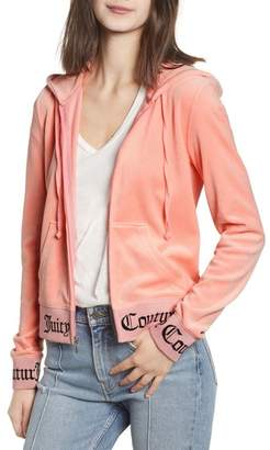 Juicy Couture Robertson Jacquard Velour Hoodie