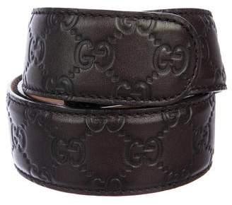 Gucci GG Guccissima Leather Belt Strap