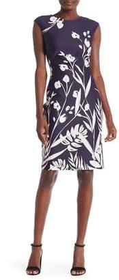 Vince Camuto Cap Sleeve Bodycon Print Dress