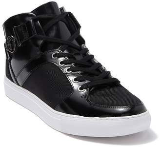 Versace Woven & Leather Mid Sneaker