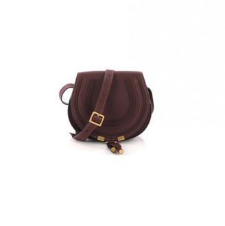 Chloé Marcie Burgundy Leather Handbag